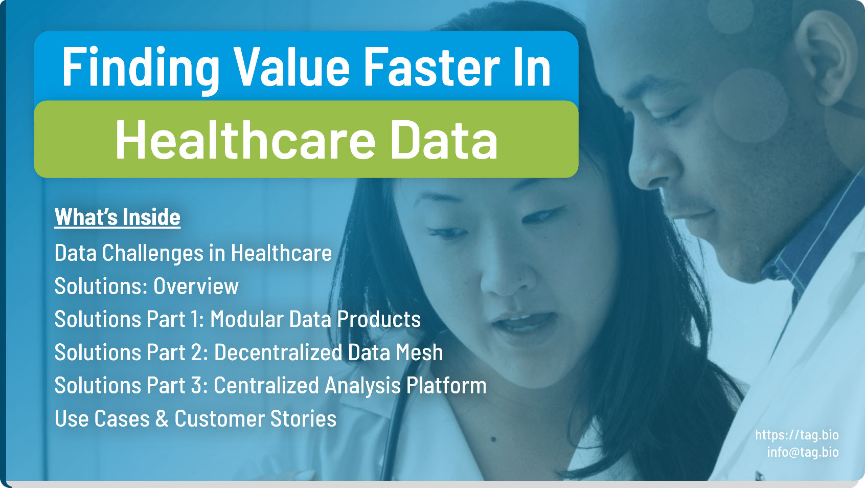 tag.bio healthcare analysis platform ebook
